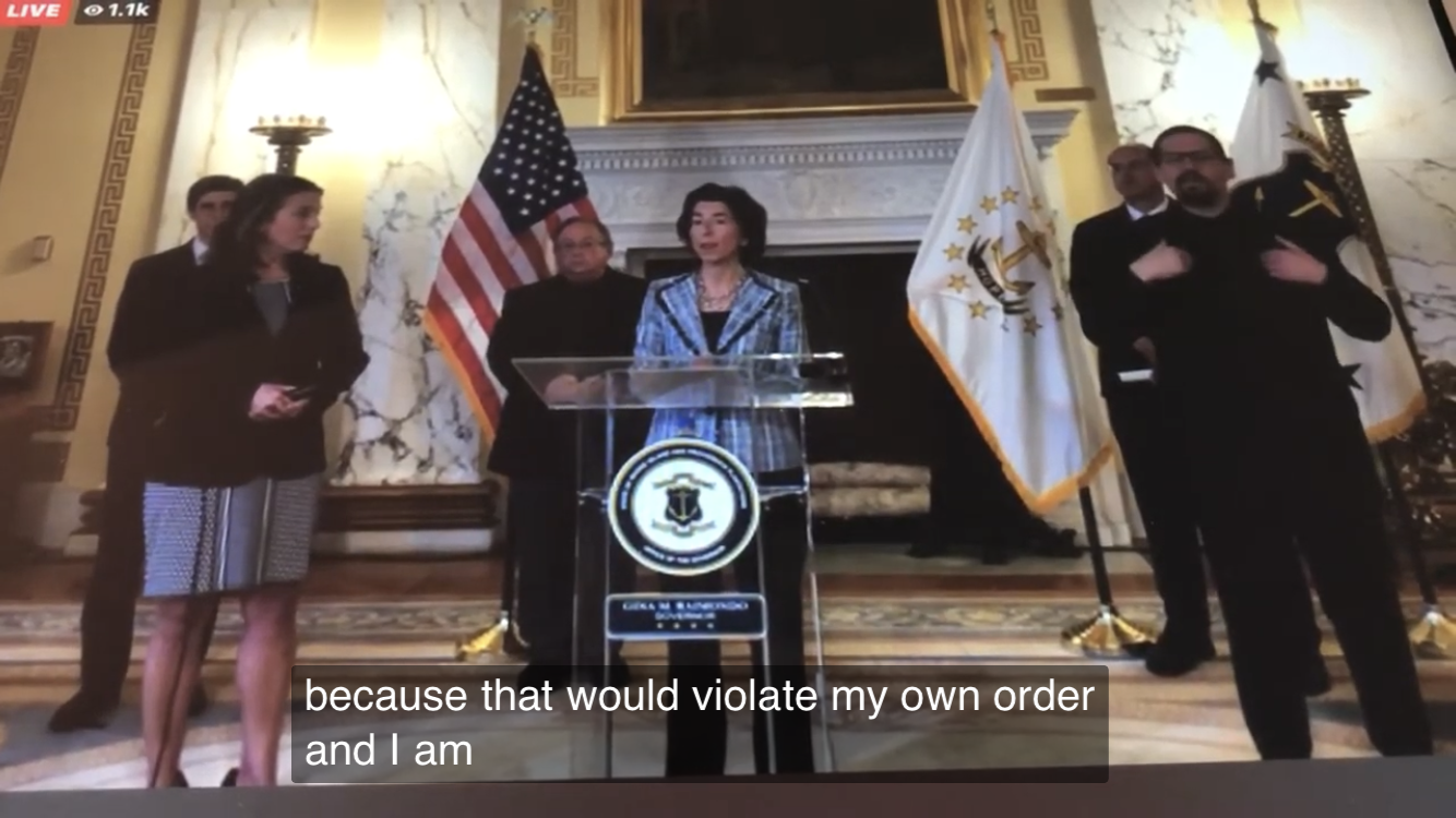 Defiant Raimondo refuses to allow press to attend daily press briefings
