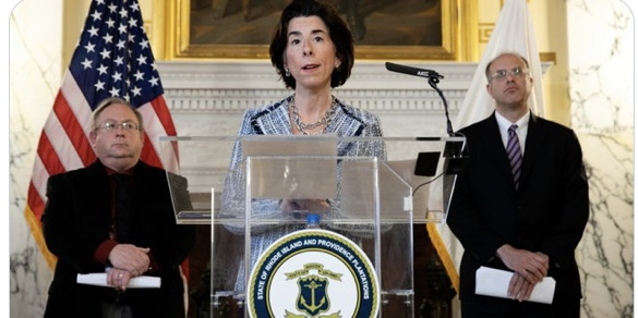 Raimondo weighs in on Columbus statue and state name change