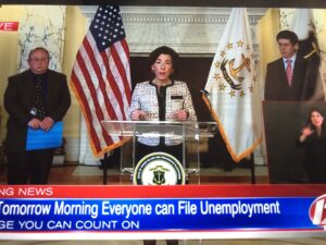 John DePetro questions the surge at Governor Raimondo daily briefing for 4/6/20