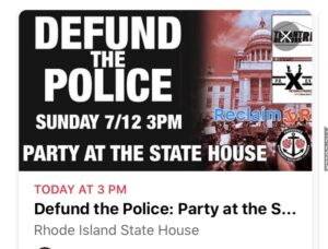 Video: Defund the police protesters outside home of Governor Raimondo