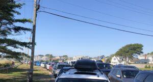 Video: Scarborough beach lot closed 9:07 at 25% capacity per Gov Raimondo