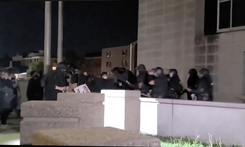 Video: Anti-police protesters battle Providence Police