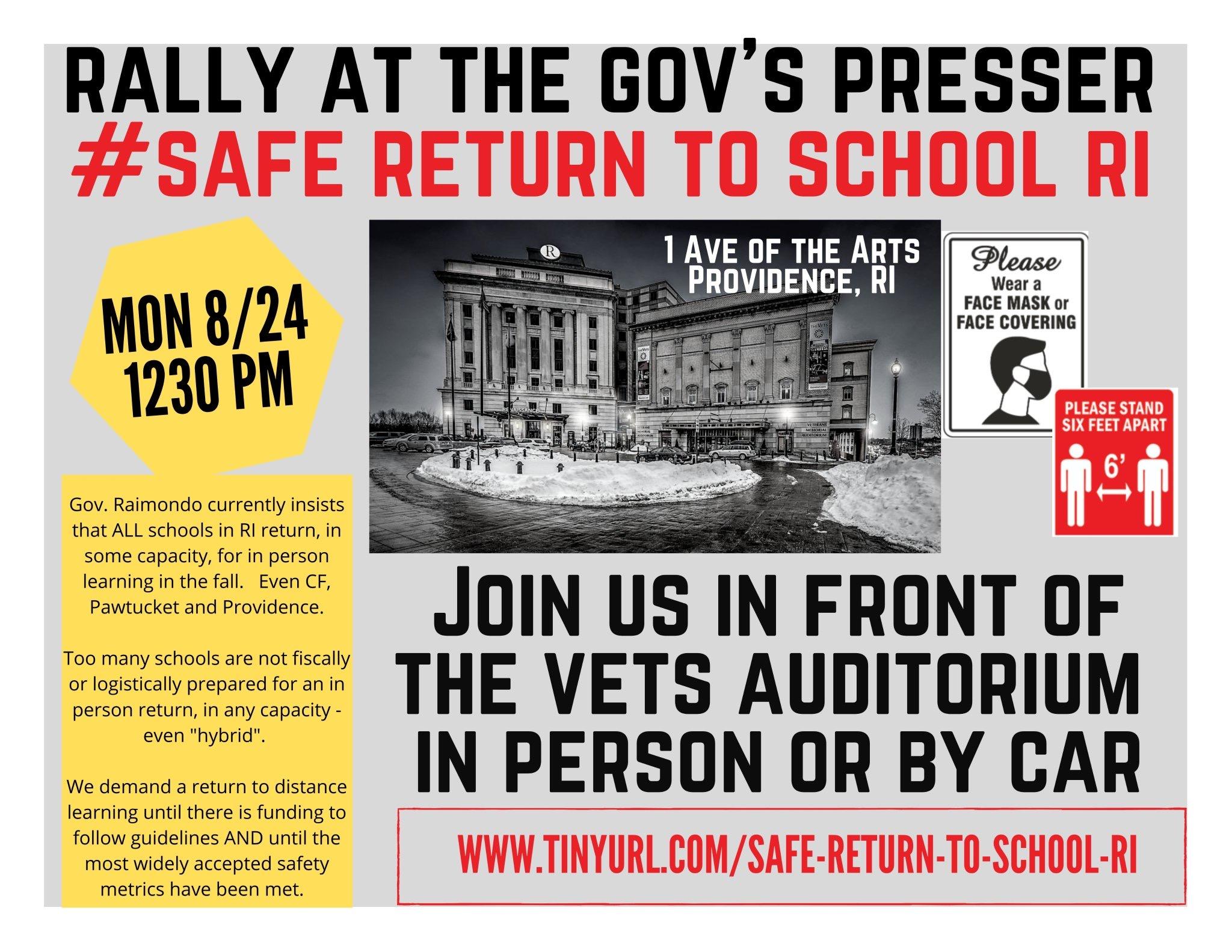 Protest planned Monday against Raimondo