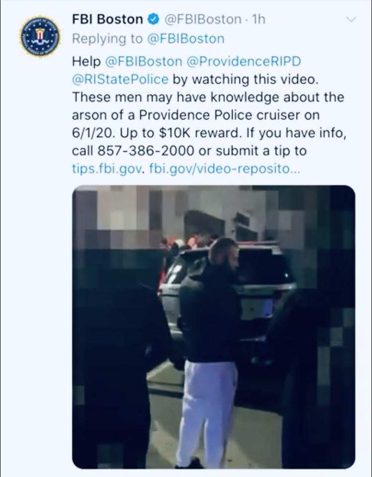 Video: Part 3-FBI video of Providence cruiser ablaze