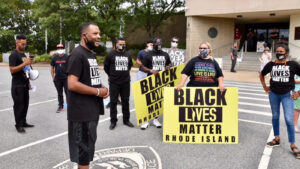 Read more about the article Video: Black Lives Matter protest Providence Police station