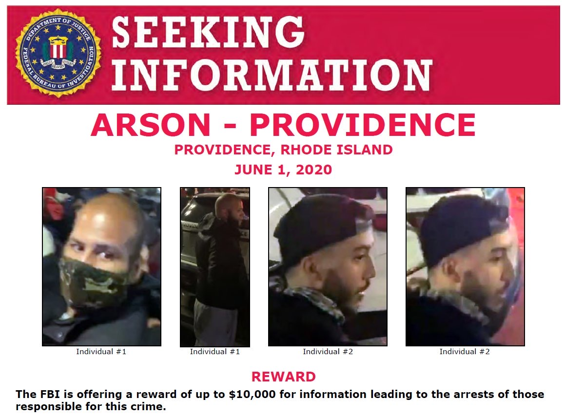 Video: FBI offers $10k on arson from the riot