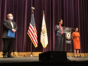 Video: Tempers flare before Raimondo briefing