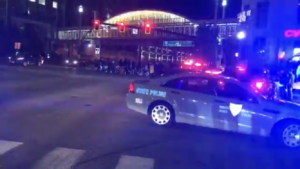 Video: Protesters destroy Providence and shut down the highway