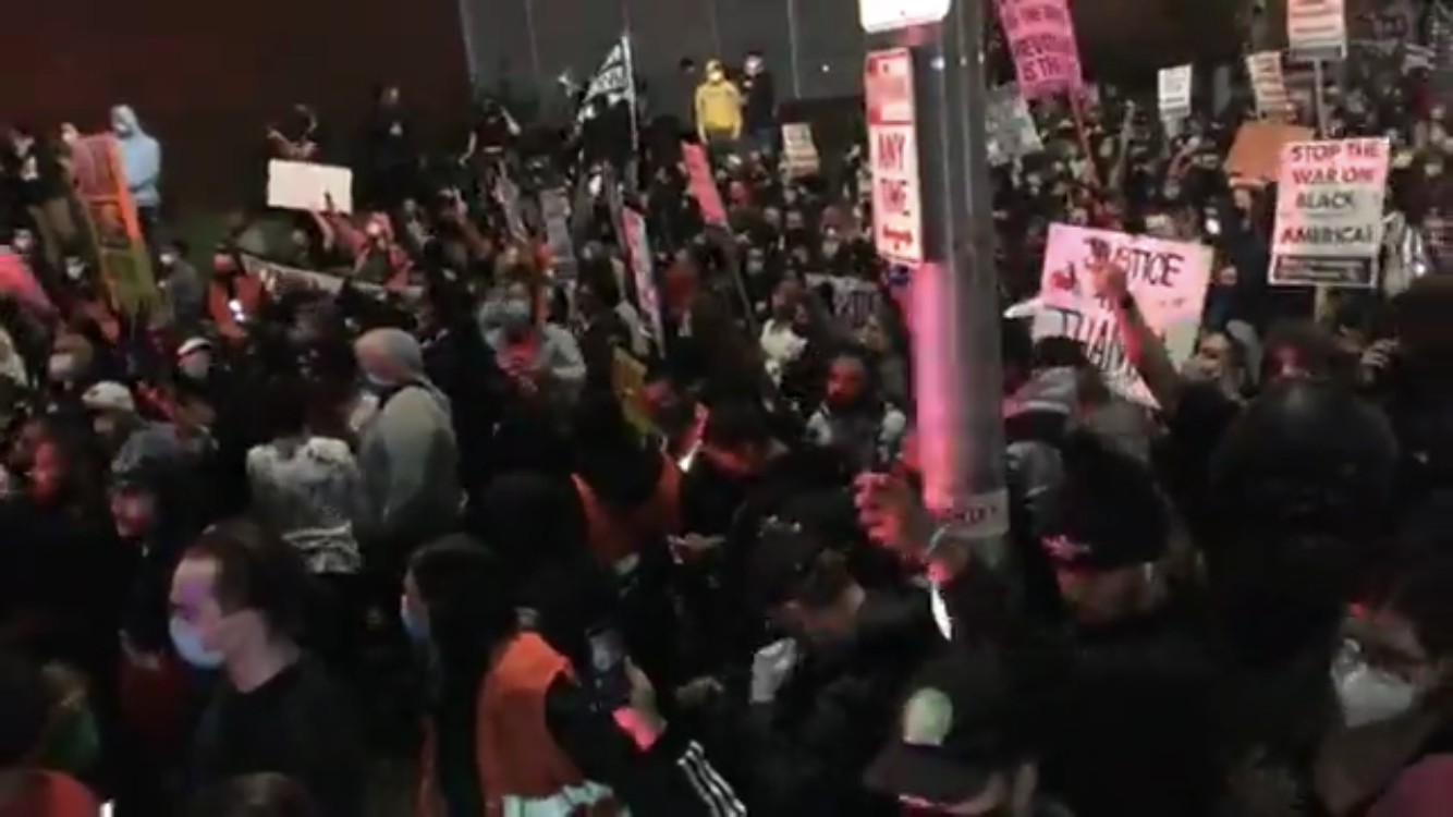 Video: Wild protest in Providence with 19 arrested