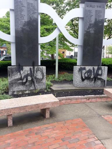 Video: Providence veterans memorial vandalized