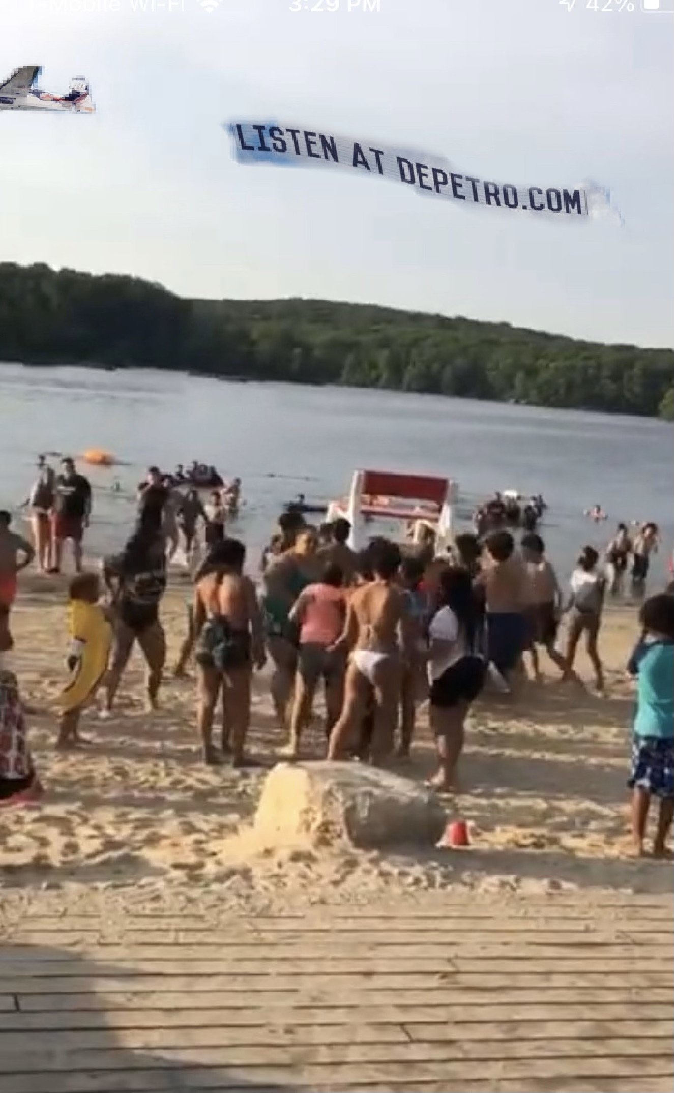 Video: Beach Brawl at Lincoln Woods