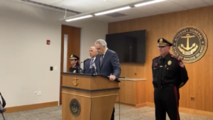 Read more about the article Video: AG presser on off-duty Pawtucket cop charged