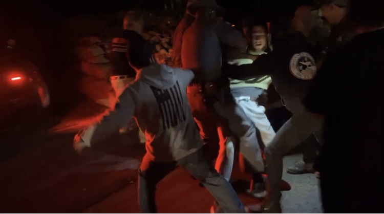 Read more about the article Video: Protest erupts at McKee home